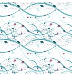 Floral seamless pattern abstract waves with vector