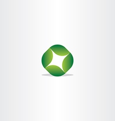 Logo green leaf circle eco symbol vector