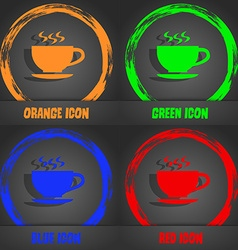 The tea and cup icon fashionable modern style in vector