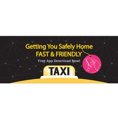 24 hour taxi service 1500x600 pixel banner vector