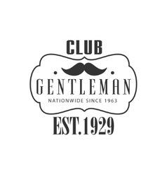 Nationwide gentleman club label design vector
