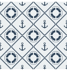 anchors lifebuoy seamless pattern vector image vector image