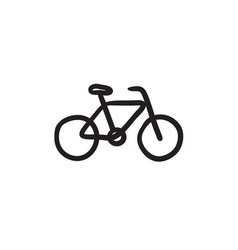 Bicycle sketch icon vector