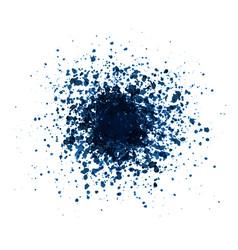 big blue grunge splash on white background vector image