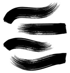Black brush strokes vector