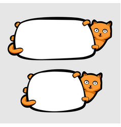 cat holding banner vector image vector image