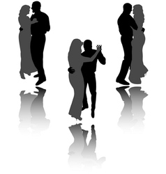 Dancing couple vector