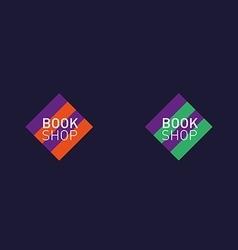 Developing creative set logo book shop red purple vector
