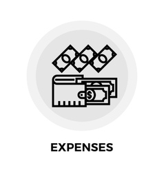 Expenses Line Icon vector image