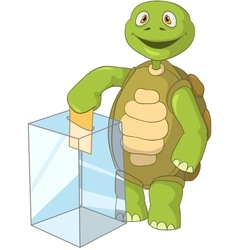 Funny turtle election vector
