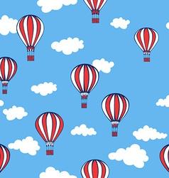 Hot air balloons Seamless pattern vector image