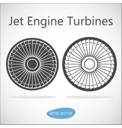 Jet engine turbine front view vector