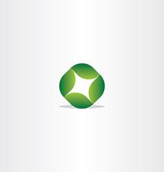 Logo green leaf circle eco symbol vector