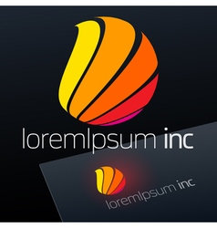 Logotype for Media Fashion Cosmetics vector image vector image