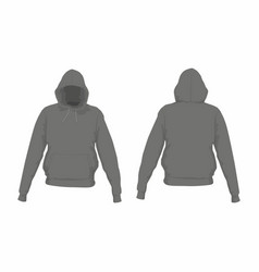 mens black hoodie vector image vector image