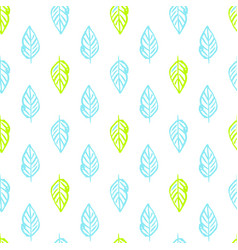 Nature plants brush seamless pattern vector