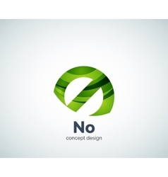 no concept prohibition logo template vector image