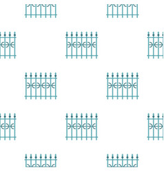 Park fence pattern seamless vector