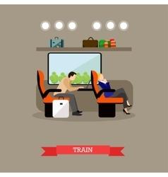 Passengers in public transport concept vector
