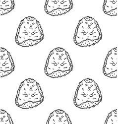 Porcupine or hedgehog on white background vector
