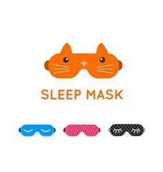 Sleep mask set Night sleeping mask icon Sleep mask vector image