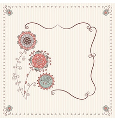 Stock handmade frame in a classic style with vector