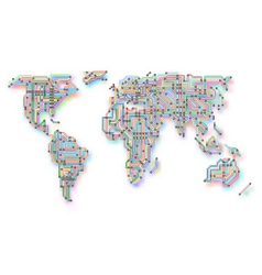 subway world map vector image vector image