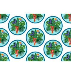 tropical bouquet seamless pattern vector image