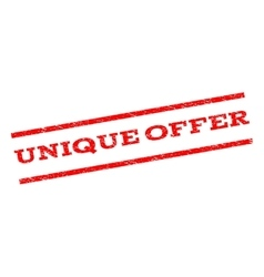 Unique Offer Watermark Stamp vector image vector image