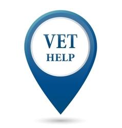 Veterinarian help icon vector
