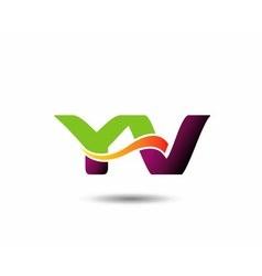 YV Logo vector image