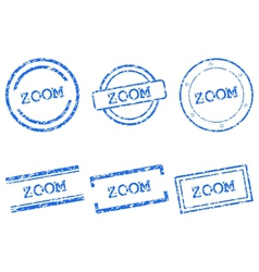 Zoom stamps vector image vector image
