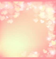 005 blur heart on light pink abstract background vector