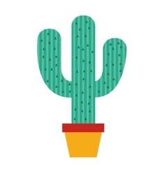 Cactus plant nature icon vector