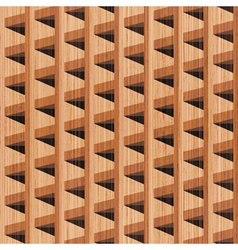 wooden building vector image