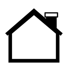 Silhouette of house side one floor vector