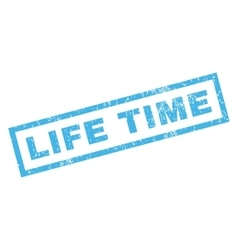 Life time rubber stamp vector
