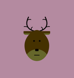 New year deer christmas deer vector
