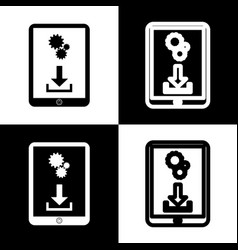 phone icon with settings symbol  black and vector image