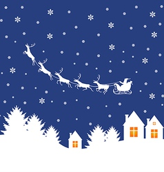 Santa outdoor white vector