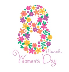 Card womens day on march 8 vector