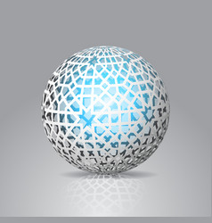 3d sphere decorated with geometric abstract shape vector image vector image
