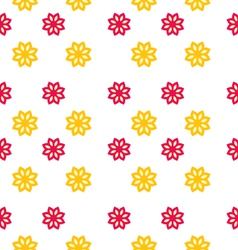 Seamless texture with flowers elegance kid pattern vector