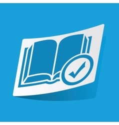 Select book sticker vector