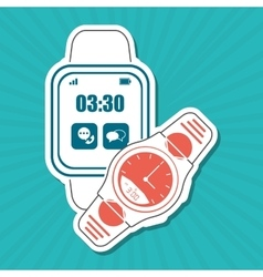 Smart watch design vector
