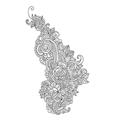 Doodle art flowershand drawn design vector