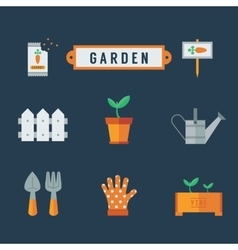 Garden icons set vector