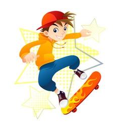 Teenager on skateboard vector image