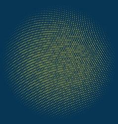 Binary code circle vector