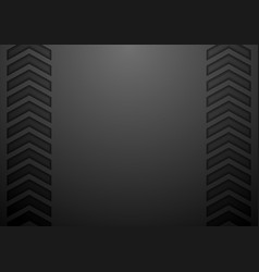 Black tech arrows abstract background vector